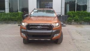 Bán xe Ford Ranger bản cao cấp nhất Wildtrak Navigation 3.2 4x4 màu cam sản xuất 2017 tại Điện Biên