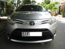 Bán xe cũ Toyota Vios đời 2015, màu bạc ít sử dụng