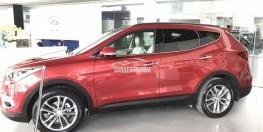 Giá xe Hyundai Santa Fe 2017 1 tỉ 230 triệu Full xăng/ Đỏ/ xe có sẵn