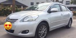 Nhà cần bán xe Toyota Vios E đời 2010 màu bạc biển HN,chính chủ nhà dùng