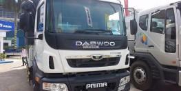 Xe tải Deawoo Prima 3 chân cầu nâng, tải trọng 16 tấn, công nghệ mới tại Hà Nội