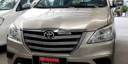 Bán xe Innova E sản xuất 2014 màu nâu vàng