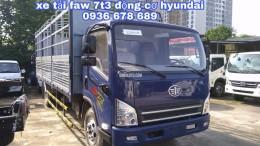 Bán xe tải faw 7,3 tấn chính hãng, động cơ Hyundai nhập Hàn Quốc, thùng dài 6m25