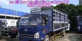 Đại lý chính hãng bán xe tải faw 7,3 tấn, động cơ Hyundai, thùng dài 6m25, giá cực tốt