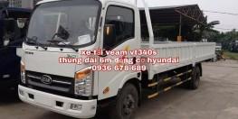 Xe tải veam vt340s, tải trọng 3,5 tấn, thùng dài 6m, động cơ Hyundai