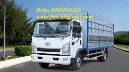 xe faw 7,25 tấn 140 ps thùng 6,3m cực chất