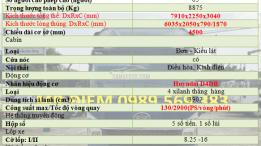 xe veam vt490 5 tấn thùng dài 6m động cơ hyundai