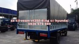 Xe tải veam vt350 động cơ hyundai,thùng dài 4m9,tải trọng 3,5 tấn