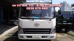 Đại lý chính hãng bán xe Faw 7,3 tấn máy Hyundai Hàn Quốc,thùng dài 6m25