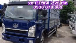 Bán xe tải faw 7,25 tấn thùng dài 6m3,động cơ 140PS mạnh mẽ,giá rẻ nhất