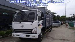 Xe tải faw 7,3 tấn động cơ Hyundai Hàn Quốc,thùng dài 6m25,hỗ trợ trả góp,giá rẻ