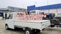 Xe tải Veam VPT095 tải trọng 990kg,thùng dài 2m6,điều hòa,trợ lực lái,giá rẻ