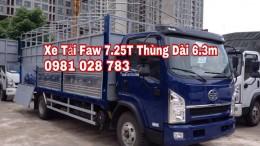 Xe Tải Faw 7T25 Xe Faw 7.25 tấn 0981028783