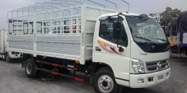 bán xe thaco thùng mui bạt 5,7m tải 7 tấn động cơ công nghệ ISUZU giá 419 triệu
