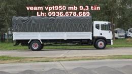 Xe tải veam vpt950 tải trọng 9,3 tấn, thùng dài 7m6, xe Euro 4, hỗ trợ trả góp