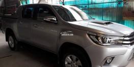 bán xe bán tải Toyota Hilux 3.0AT 2015 đkí 2016 màu bạc 2 cầu