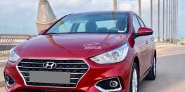 Bán gấp Hyundai Accent 10/2018 tự động đỏ xe đi 900 km