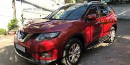Bán Nissan Xtrail 7chỗ tự động 2018 bản full đẹp màu đỏ đô đặc biệt