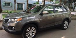 Kia Sorento đời 2011 số tự động màu xám, xe bản full xăng, 2 cầu, ghế điện