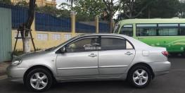 Toyota Altis 2004 số sàn màu bạc, trang bị ghế da, điều hòa mát lạnh