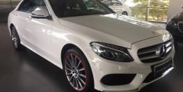 Mercedes-Benz C300 2017 (trắng) siêu lướt nhẹ NỘI THẤT ĐỎ chính hãng đã qua sử dụng