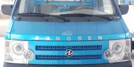 xe tai DONGBEN 870KG TL màu xanh. Kích thước thùng 2450mm. TCKT: EURO 4.
