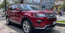 Xe Ford Explorer Limited 2.3L EcoBoost 2019 nhập khẩu, màu đỏ