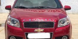Cần bán Chevrolet Aveo 1.4L AT đời 2018, màu đỏ, giá chỉ 335 triệu, xe đẹp nguyên zin