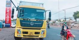 Xe tải chuyên chở cấu kiện điện tử   Dongfeng B180 thùng dài 9M5