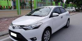 Cần Bán Toyota Vios Bản G , số tự động , đời 2018 , màu trắng