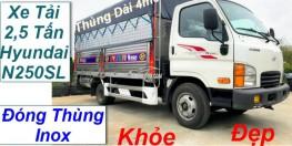 Xe tải 2.5 tấn Hyundai N250SL thùng bạt dài 4m3