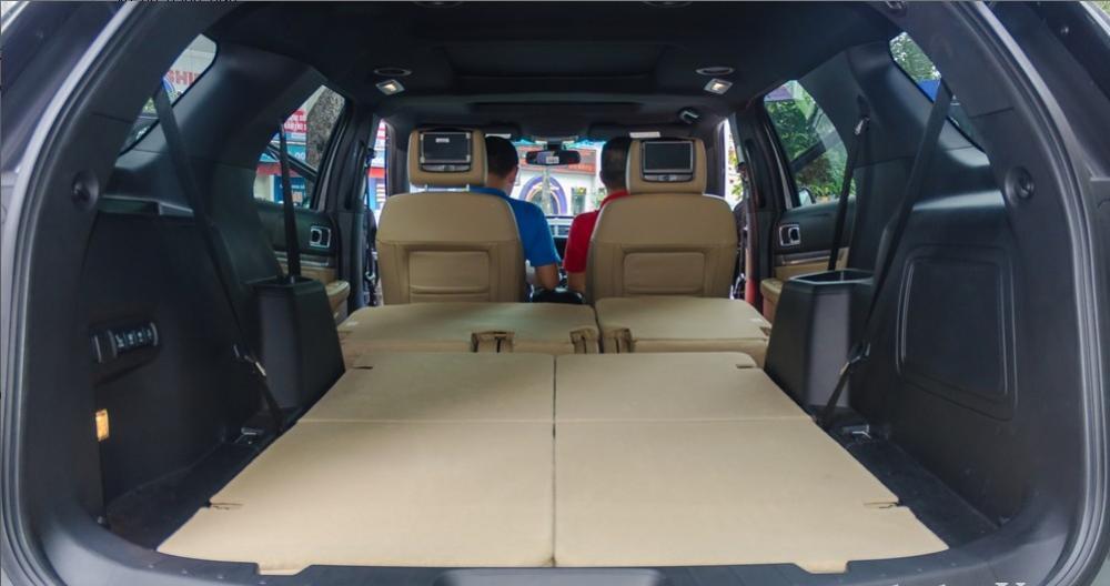Đánh giá xe Ford Explorer 2017: Dung tích của khoang hành lý tiêu chuẩn đạt 596 lít và có thể tăng thêm 1.243 và 2.314 lít khi hàng ghế thứ ba và thứ hai lần lượt gập xuống 1