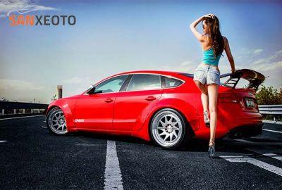 Audi A5 và những người đẹp nóng bỏng