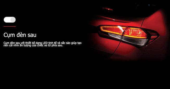 cụm đèn hậu dạng LED sắc sảo