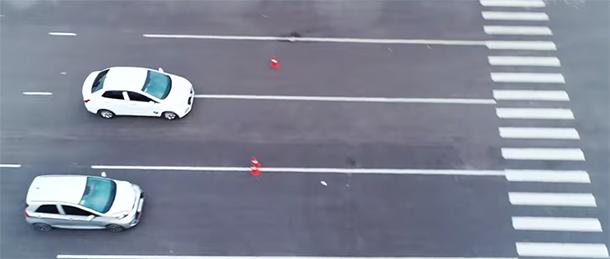 Bài test khả năng phanh cua 2 xe
