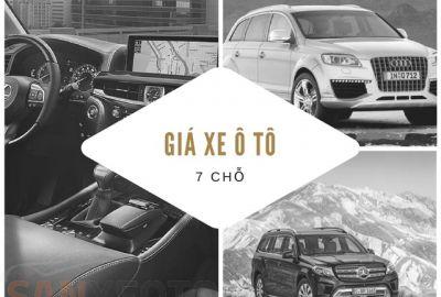 Giá xe ô tô 7 chỗ tại Việt Nam năm 2018