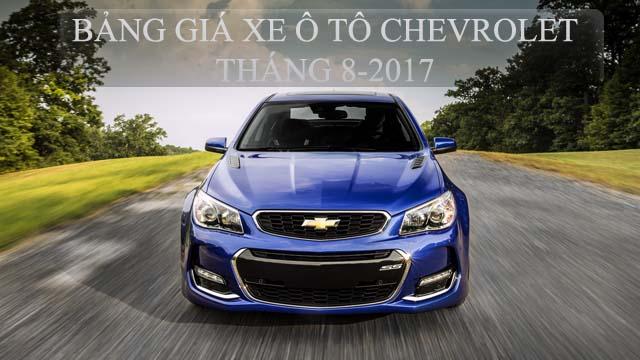 Bảng giá xe ô tô Chevrolet tháng 8-2017