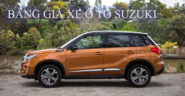 Bảng giá xe ô tô Suzuki tháng 8-2017