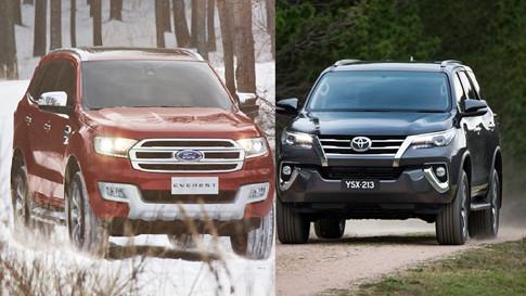 Ford Everest và Toyota Fortuner 9