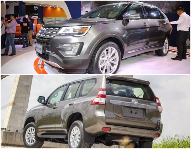 Ford Explorer và Toyota Land Cruiser Prado 2