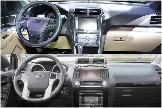 Ford Explorer và Toyota Land Cruiser Prado 3