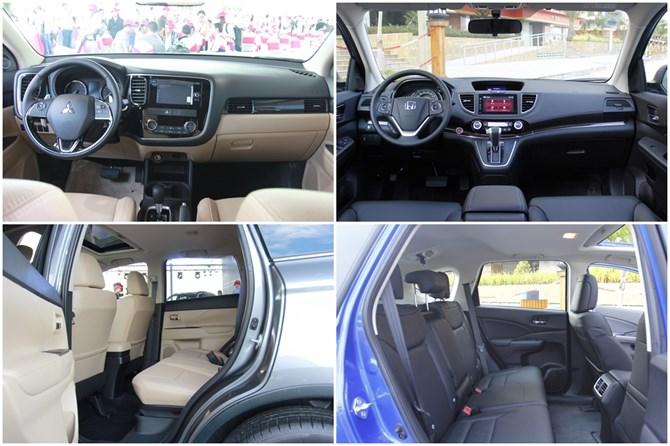 Honda CR-V và Mitsubishi Outlander 1