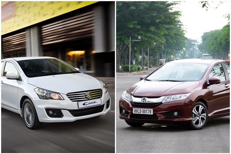 Honda City và Suzuki Ciaz 5