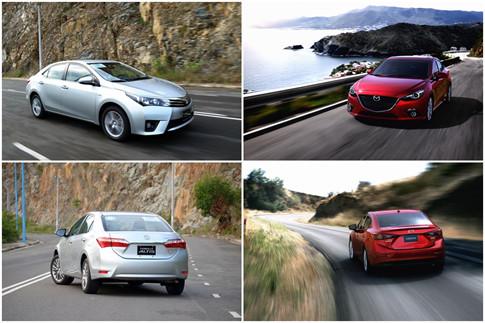Mazda3 và Toyota Corolla Altis 7