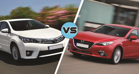 Mazda3 và Toyota Corolla Altis