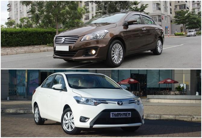 So sánh Suzuki Ciaz và Toyota Vios
