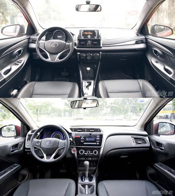 Toyota Vios 2017 và Honda City  4