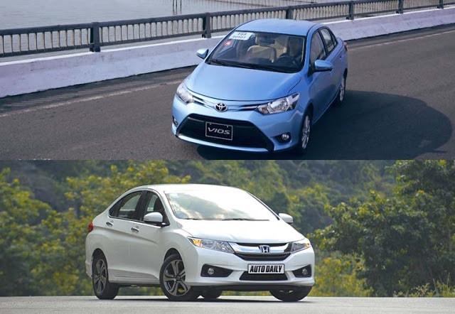 Toyota Vios 2017 và Honda City  5