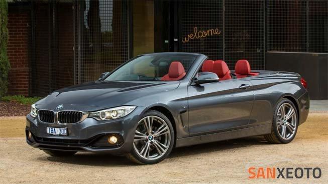 BMW mui trần 4 Series Convertible với thiết kế đẹp và động cơ mạnh mẽ